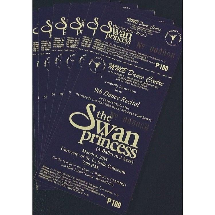 Tickets TheSwanPrincess ????Ricital2k14 Yesterday (sobra nga tickets) ????