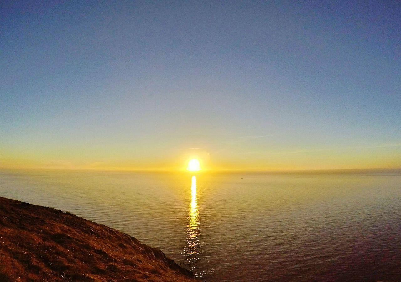 Midnight sun at North Cape, Norway Midnight Sun Midnightsun Nordkapp Norway