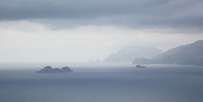Cloudy day, amalfi coast Amalfi Coast Capri Cloud - Sky Island Mountain Nature Outdoors Sea Sky