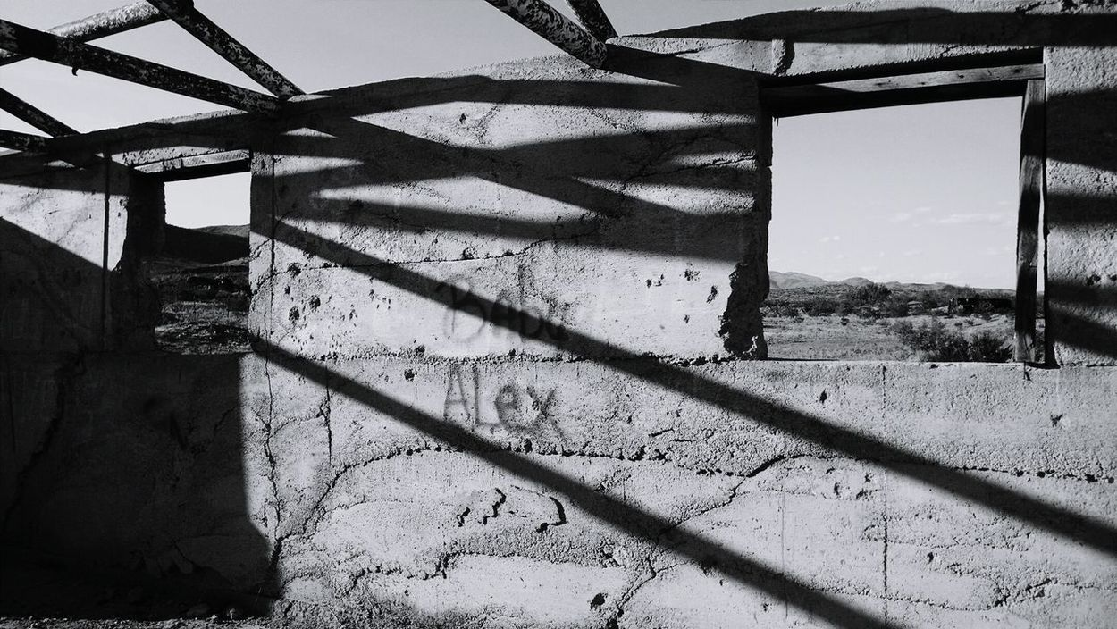 Shadow Sunlight Day No People Sky Outdoors Close-up Prison Black And White Building Love Notes Shadows & Lights