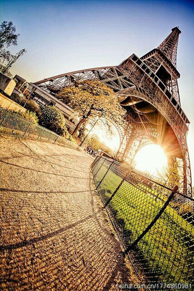 Lovin this shot. Fisheye Eifeltower Paris ❤ Eyeemsfirstpost