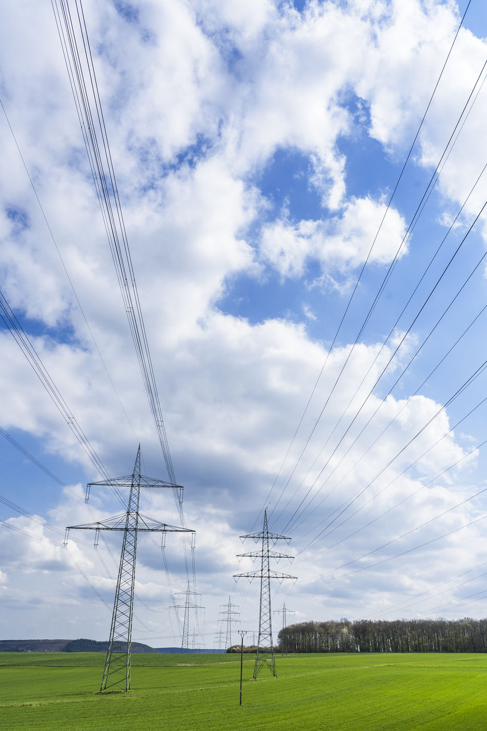 Cable Cloud Cloud - Sky Connection Day Electricity  Electricity Pylon Energy Fuel And Power Generation GERMANY🇩🇪DEUTSCHERLAND@ Grass Grassland Nature No People Outdoors Power Line  Power Supply Sky Technology