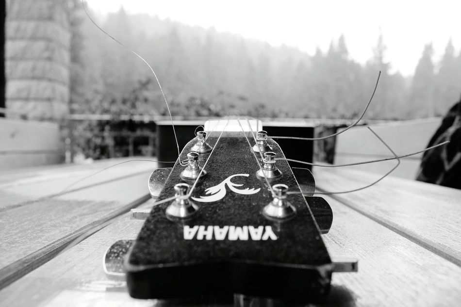 Guitar Song Artist Compositon Nature Mountain Fog Hütte Alm Reflession Relaxing Moments