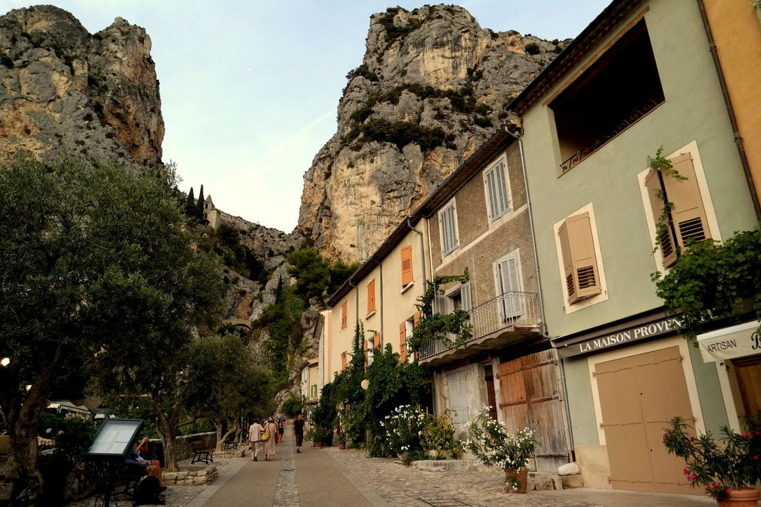 Building Exterior Built Structure Cityscapes Eye4photography  EyeEm Best Shots EyeEm Gallery EyeEmBestPics France Mountain Mountain Range Mountain Village Moustiers Sainte Marie Moustiers-Sainte-Marie Moustierssaintemarie No People Old Village Old Village France Old Village House Provence Rock Formation