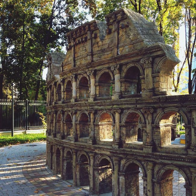 the small copie of Coliseum Building Memory Of The Centures Autumn