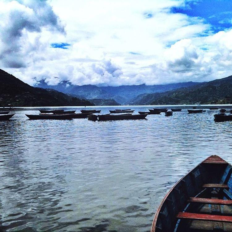 Pokhara Lake Phewa Boats cloud nepal nepali kathmandu namaste_nepal nepaliphotographer picoftheday photooftheday instadaily instaphoto ig_nepal nepal _igers goodday youmustsee follow freeyourmind