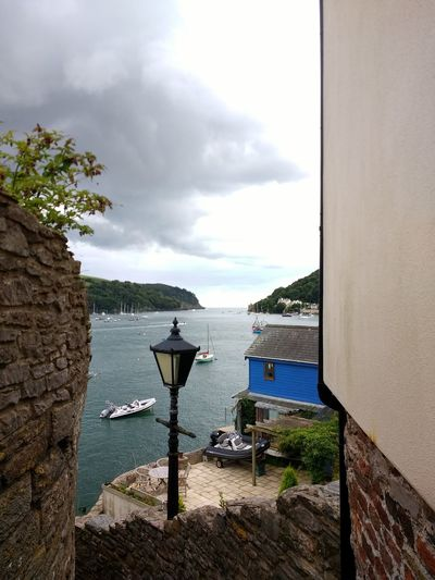 Harbour View Harbour Yacht Harbor Sailing Ship Devon Coast Devon Water Sea Fort Tranquility Sea And Sky Sea Dartmouth Lamp Post