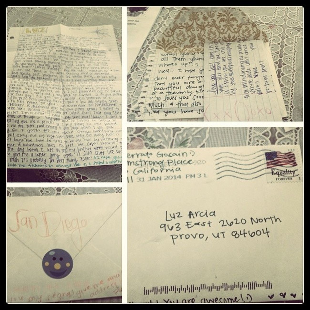 What I love most in this world is getting letters from my missionaries!! Lovemymissionaries Mydaycouldntgetbetterthanthis Sandiegoldsmission Missherlikecrazy sistergaliaserratogosain
