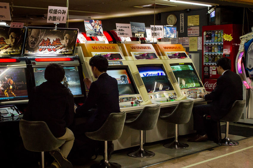 Arcade Games Business People Businessman Game Gamer Japanese  Japanese Culture Men Suits  Japan Photography Ultimate Japan