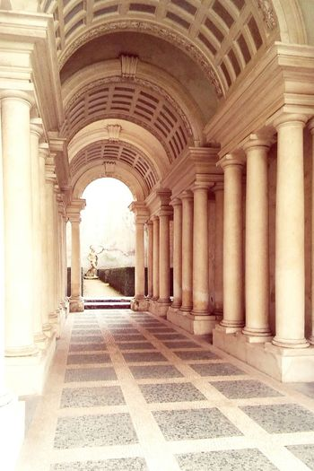 Gallery Spada Columns Illusion Architecture Great Atmosphere Misterious Ancient Ruins Marble Borromini Baroque Baroque Architecture