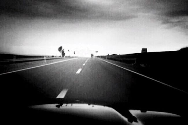 Blackandwhite Road go home