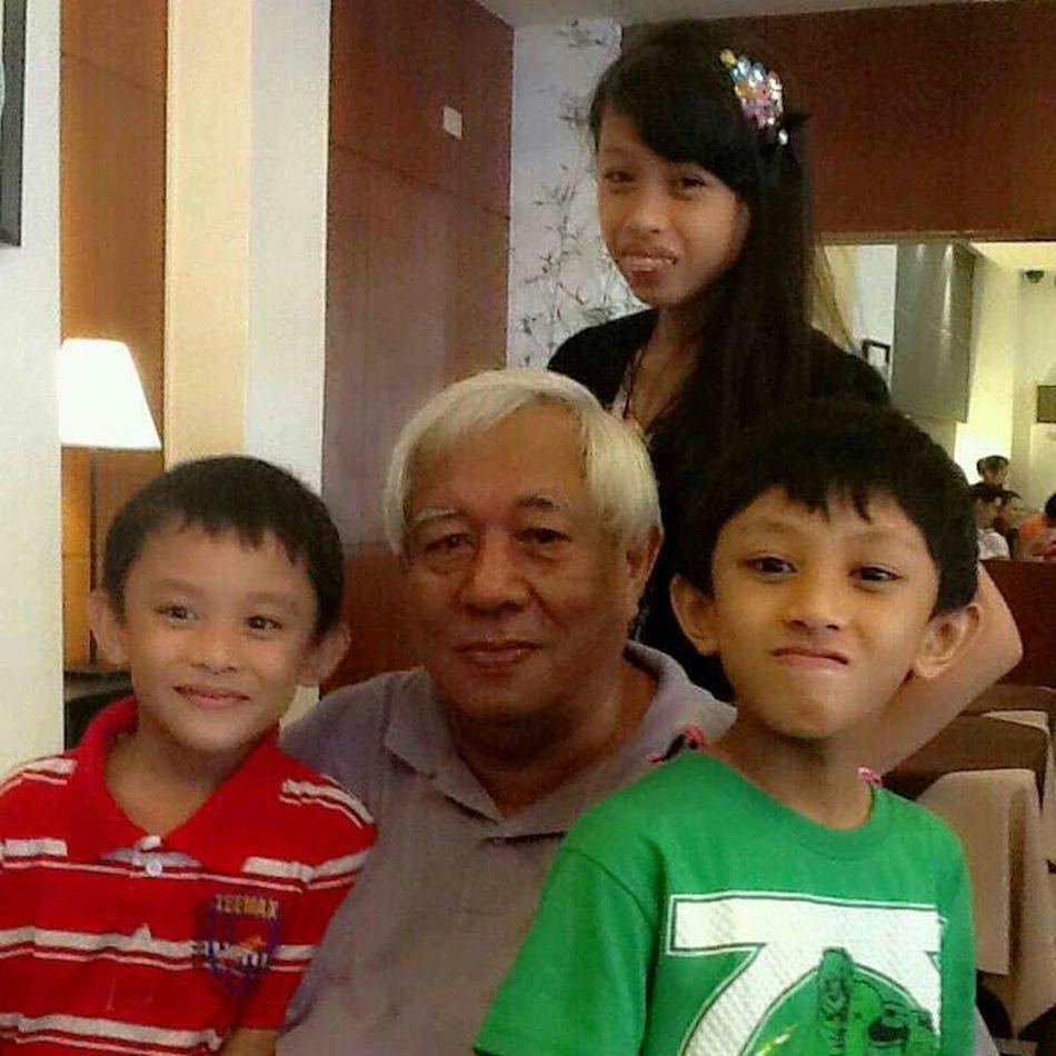 with my grandchildren at alex III restaurant saturday for lunch