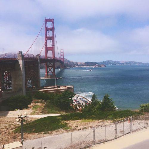 seeing Golden Gate Bridge😁 (null)Hello World Enjoying Life