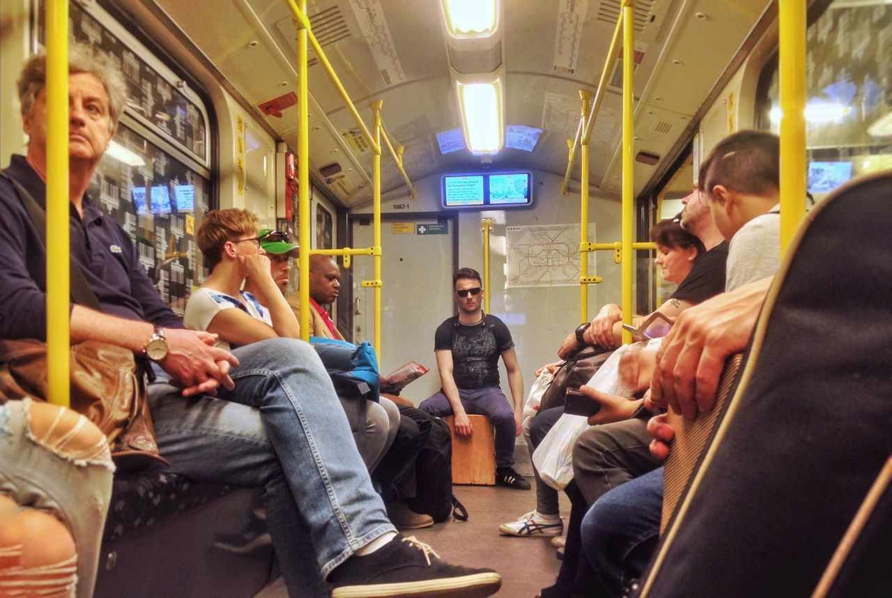 The Street Photographer - 2017 EyeEm Awards Public Transportation Sitting Train - Vehicle Transportation Subway Train Passenger Men Mode Of Transport Commuter City Life Women Waiting Travel Rush Hour Large Group Of People Subway Station Indoors  Real People City Adult