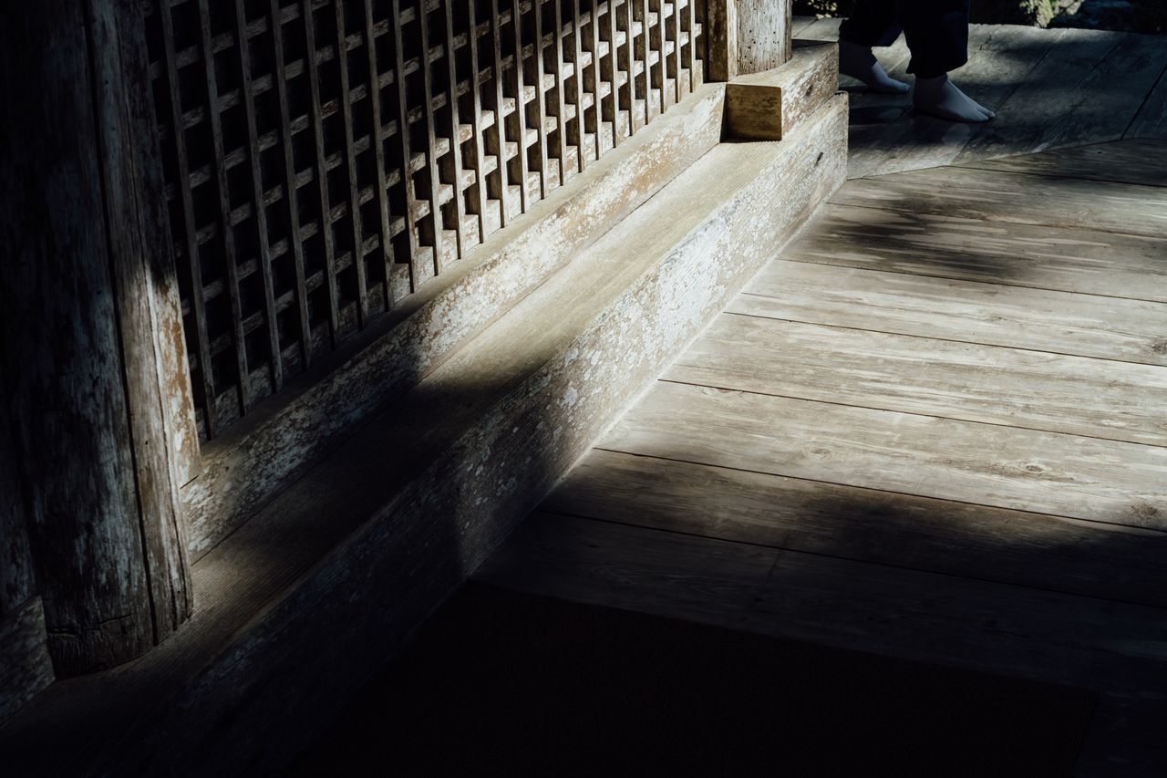 Light And Shadow Wooden Floor Wooden Foot Temple In The Forest September September 2016 Flooring Non-urban Scene Japanese Temple Atmosphere Travel Sunlight Obama Fukui Japan Photography No People Traditional Atomosphere