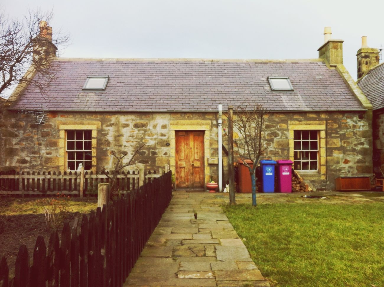 House and Bins in Scotland Colour Everywhere