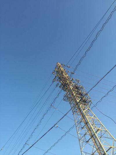 鉄塔 Steel Tower  Pylon 電線 Electric Wire 青空 Blue Sky 空 Sky