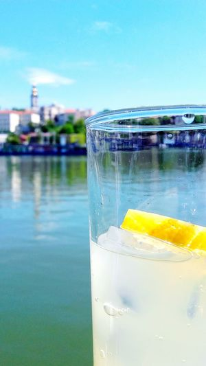 Schweppes Belgrade Serbia Sava River Water Water Reflections Sabornacrkva Lemon Juice River Sky Sky And Clouds
