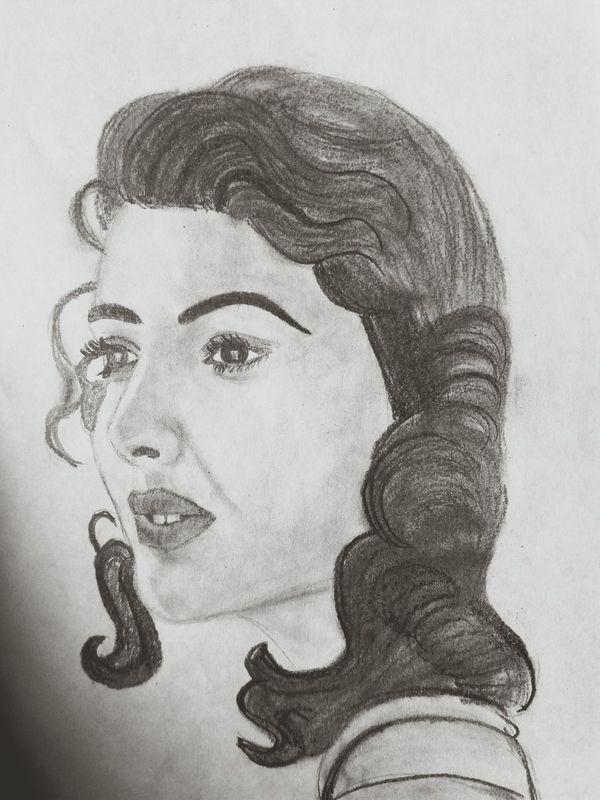 Black And White Portrait pencilsketch