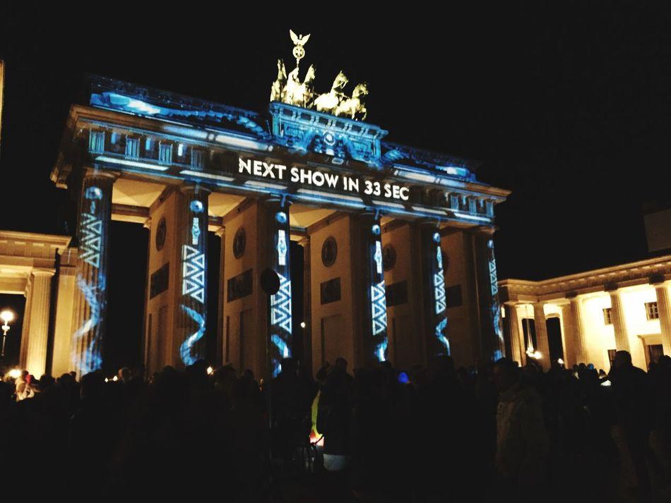 Berlin festival de Lumiere Berlin Branderburgertor