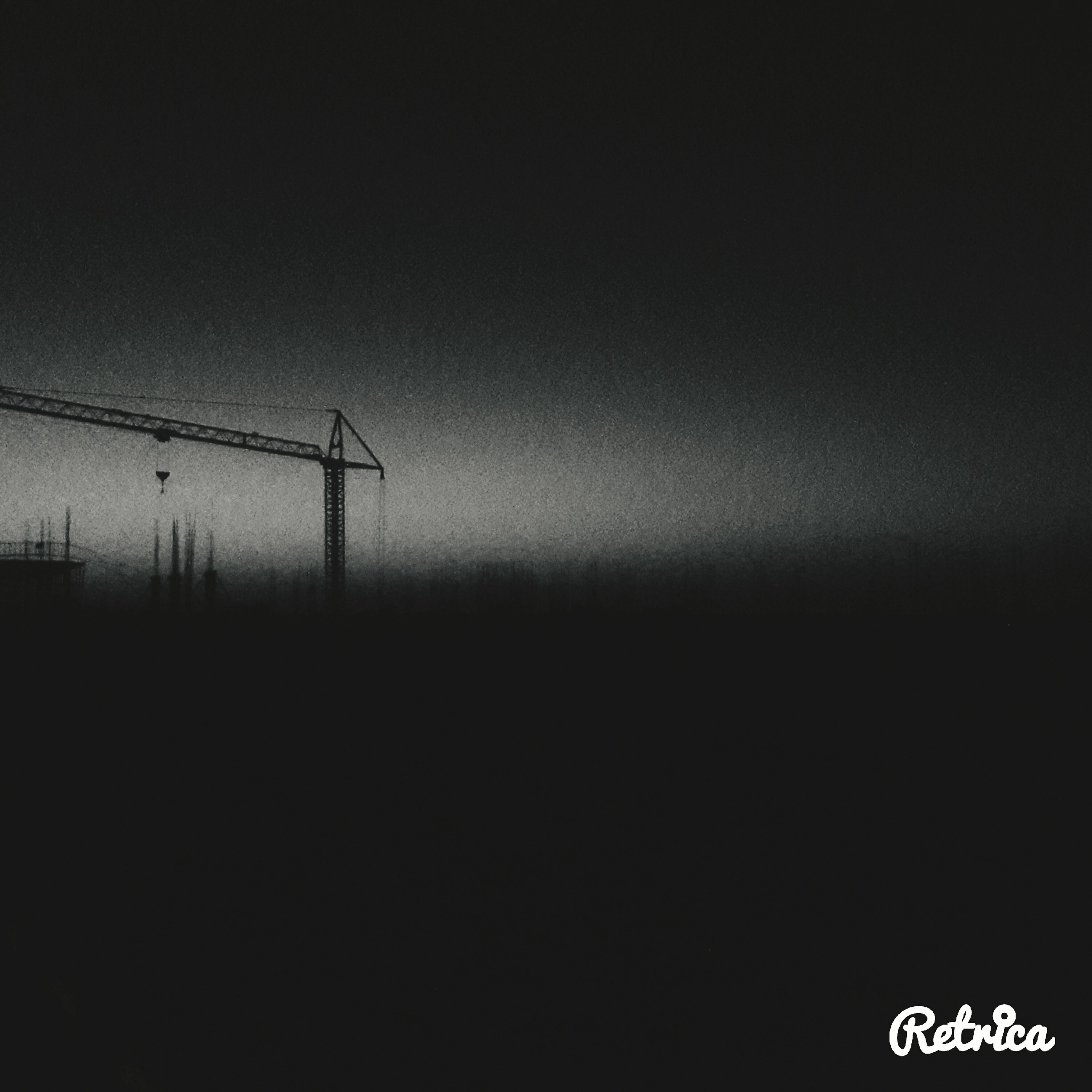 copy space, silhouette, communication, sky, low angle view, clear sky, no people, dusk, outdoors, tranquility, electricity, nature, electricity pylon, connection, fuel and power generation, street light, guidance, power supply, tranquil scene, landscape