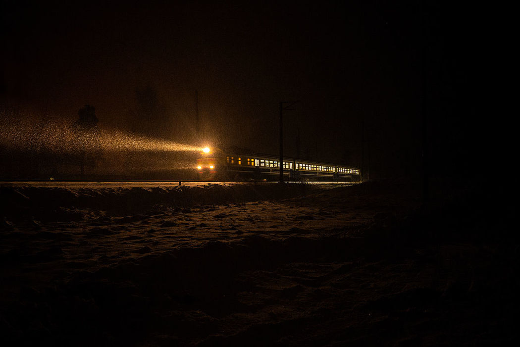 EyeEmNewHere Train Train Station Night Night View Train Lights Gold Colored Gold Shimmer Gold Lights Miles Away Miles Away