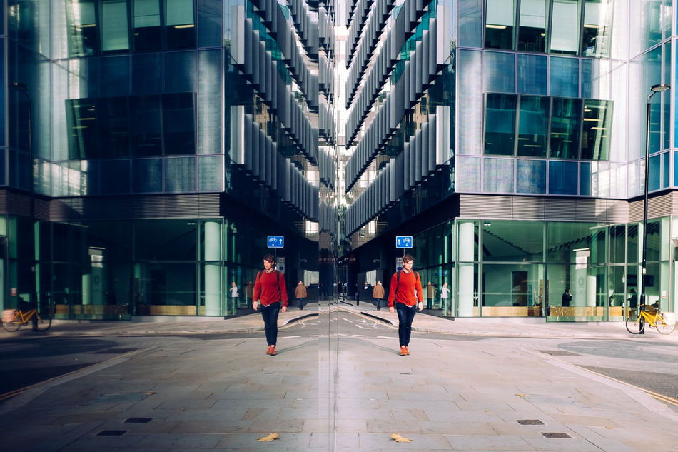 Architecture Autumn Autumn Colors Building Exterior City London Mirror Mirrored Orange Orange Color People Refelction  Refelections