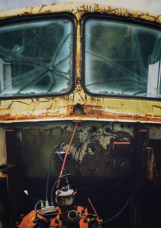 Junkyard COE Auto Abstract Wrecked Car Rusty Autos Junkyardcar Junkyard Broken Windows Broken Window