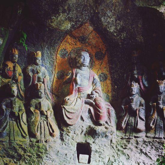 臼杵の石仏 Japan Ooita A Statue Of Buddha Sekibutsu Ultimate Japan Silence