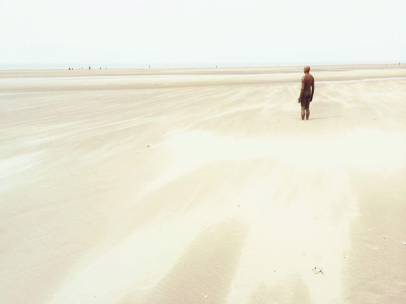 Sculpture Liverpool Beach Crosby Beach