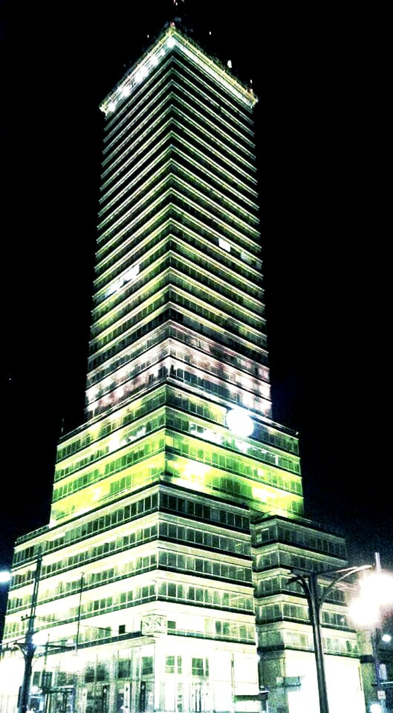 Night Illuminated Building Exterior Architecture Arquitectura Torre Latinoamerica Noche Latinoamericana Luces