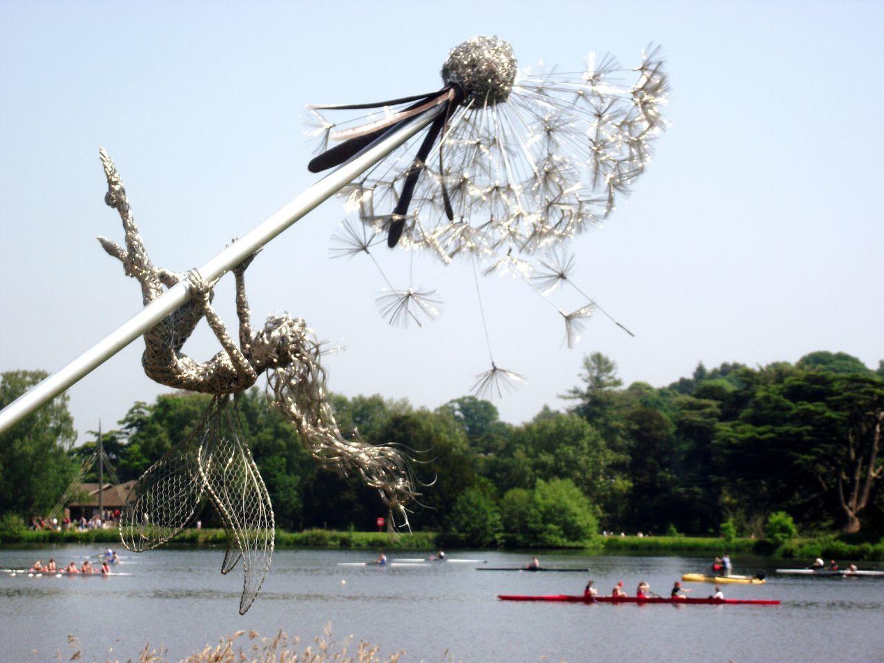 Fairy Dandelion Wire Art Rowing Trentham Estate Sunny Day❤ Walking Around Essence Of Summer Fairy Wire Art