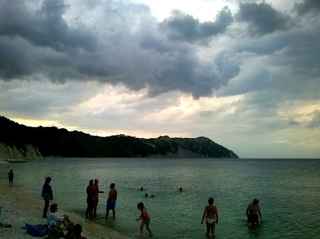 Film Beach Life Is A Beach Reflections Waves Sea Water Sea_collection Sky And Clouds Clouds And Sky Sky Sea And Sky Portonovo Conero Traveling Showcasejuly Humans Of Italy