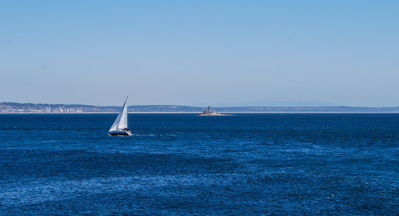Beauty In Nature Blue Clear Sky Day Horizon Over Water Nature Nautical Vessel No People Outdoors Sailboat Sailing Scenics Sea Sky Sport Tranquility Water Yacht Yachting