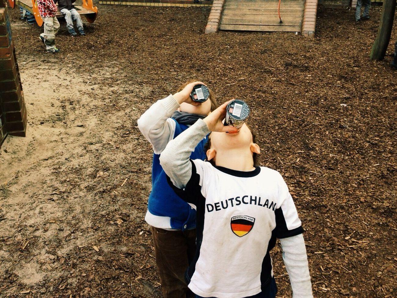 Berlin Playground Cheers Deutschland Kids Synchronized Ice Cream Icecream Drinking The Week On EyeEm