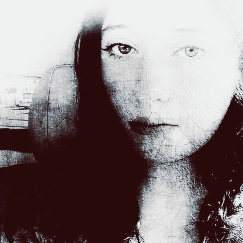 She suddenly appeared different than the girl she once was. B&W Portrait Melancholy The Portraitist - 2015 EyeEm Awards Portrait Of A Woman Monochrome My Daughter Faded Black & White Beauty Solitude