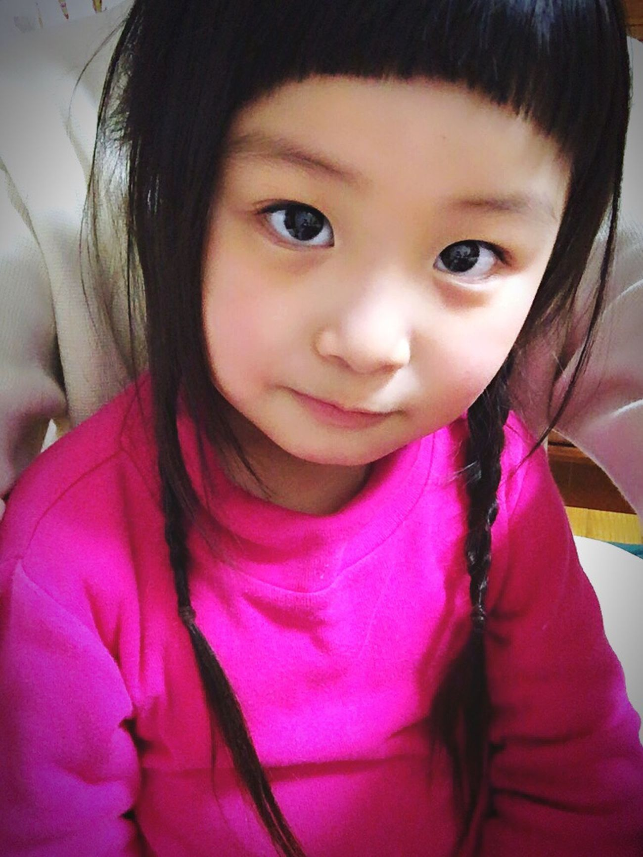Little Girl Cute Kids 前髪 短い 三つ編み