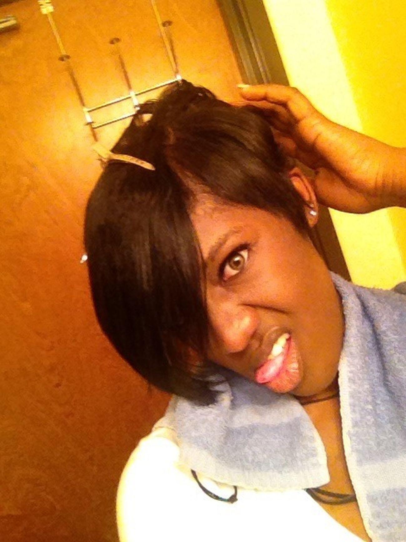 At the salon! ✂