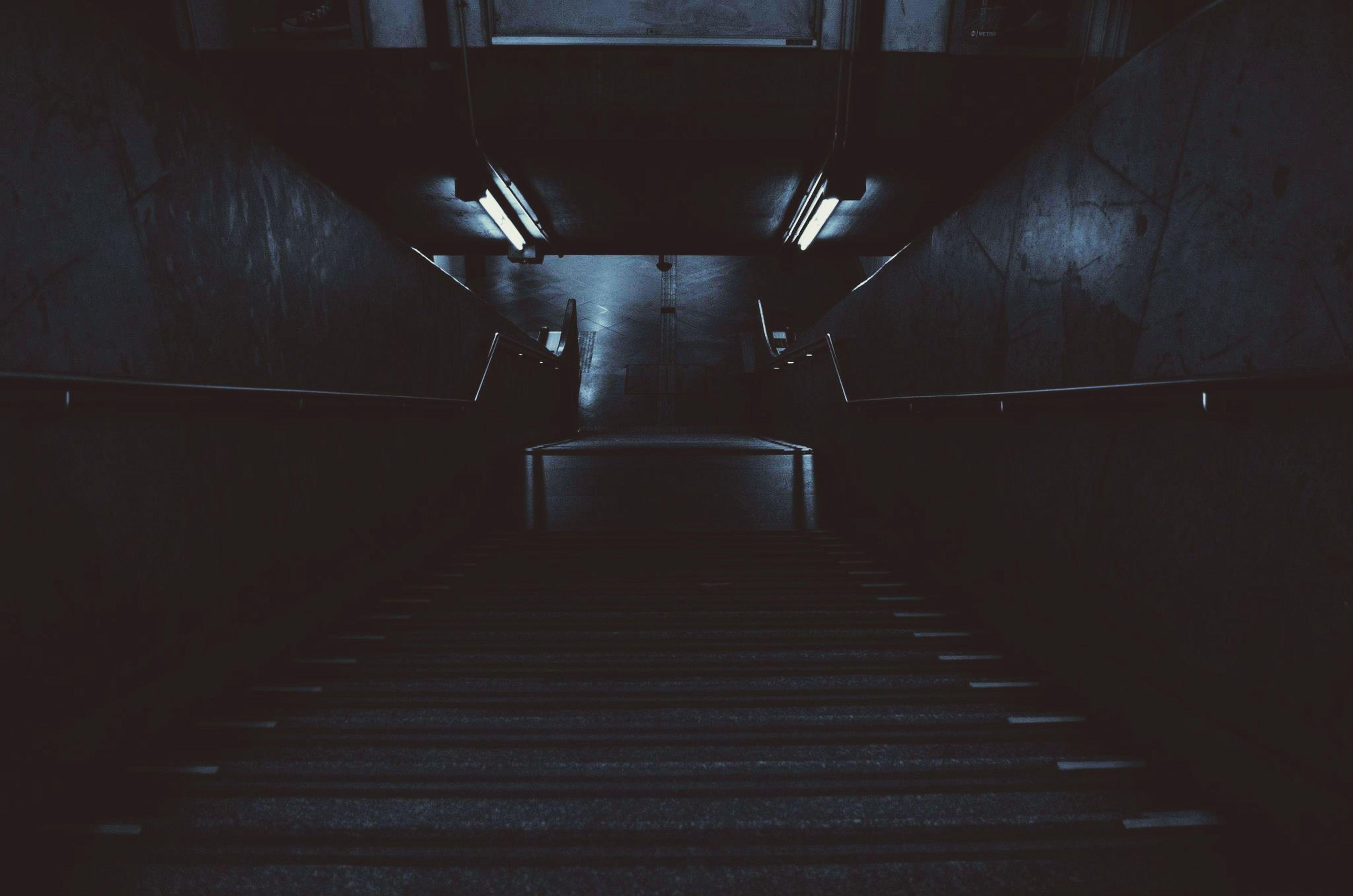 Vanishing Point Subway Stairs