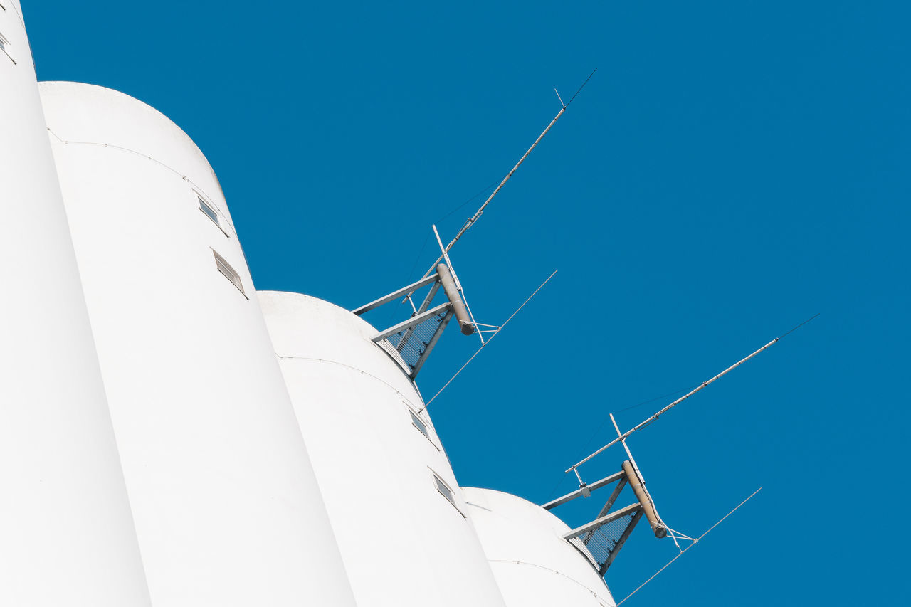 concrete cloud Antenna - Aerial Architecture Blue Blue Sky Communication Concrete Cool Industry Minimalism Minimalist Architecture Minimalobsession Modern No People Outdoors White