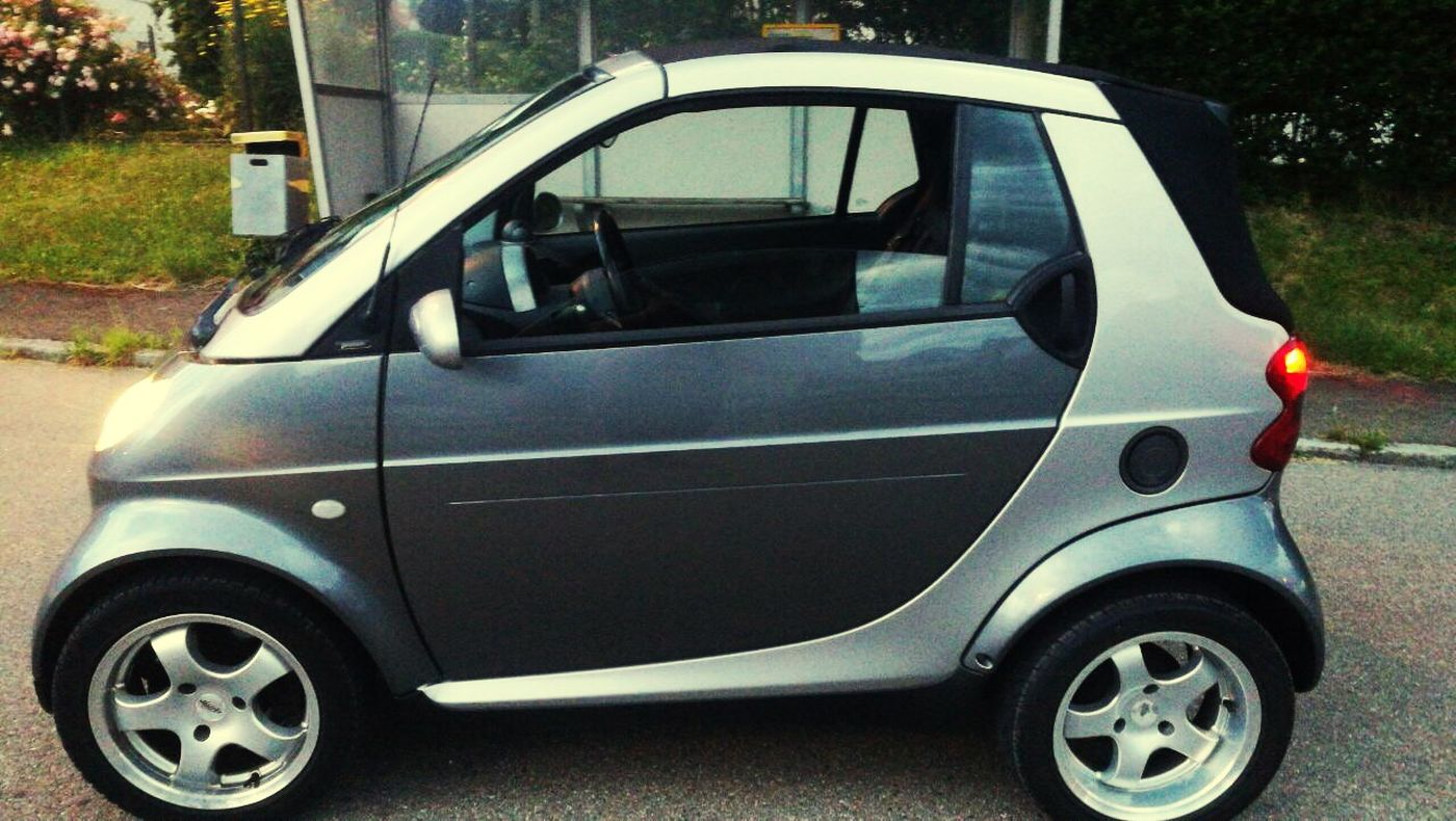 My new Baby 😍😍 Car Mode Of Transport Outdoors Road Smart For Two Cabriolet Street Light