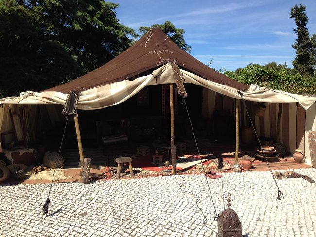 Feira Medieval em Palmela Architecture Building Exterior Built Structure Day Outdoors Relaxation Roof Shadow Sky Summer Sunlight Sunny Tent Thatched Roof Tiled Roof  Tree