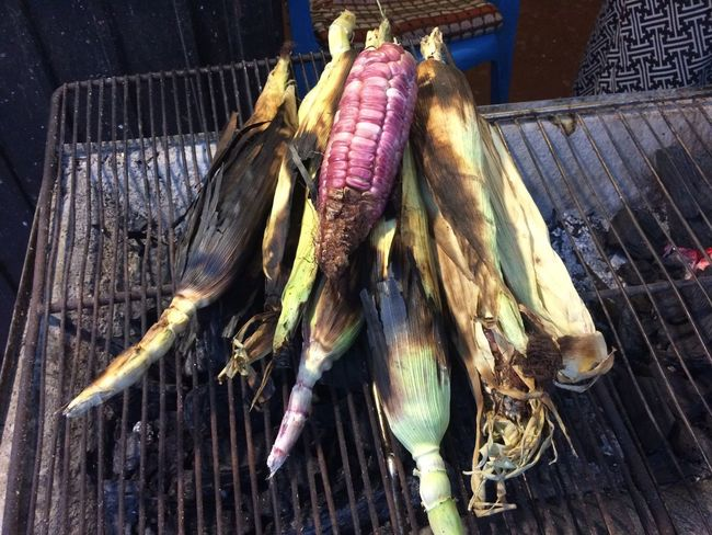 Corn Red Corn Grilled Corn On The Cob Grilled Corn Street Food El Pueblito El Pueblito, Queretaro