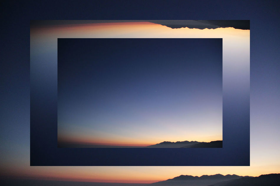 Summer manipulation Blue Capture The Moment Geometric Shape Layers Mountain Mountains Nature Negative Space No People Photoshop Sky Sunset Tranquility Travel Vibrant Color Eyeemphoto EyeEM Photos