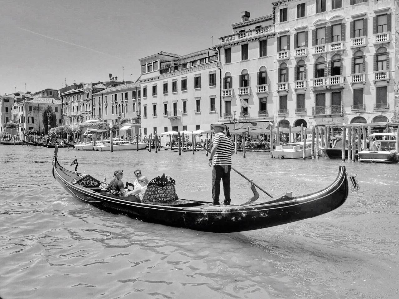 Architecture Building Exterior Built Structure Transportation Nautical Vessel City Water Waterfront Mode Of Transport Boat Large Group Of People Canal Men Lifestyles Residential Building City Life Travel Travel Destinations Gondola - Traditional Boat Day
