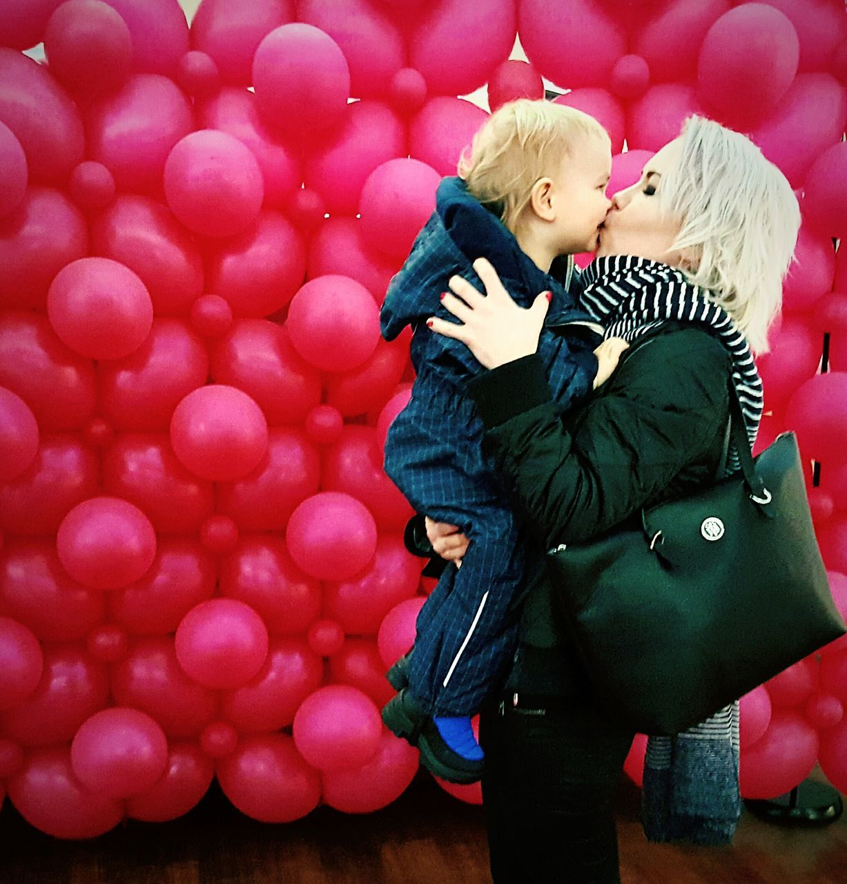 childhood, love, togetherness, boys, two people, holding, child, blond hair, cute, standing, full length, real people, indoors, day, people, adult