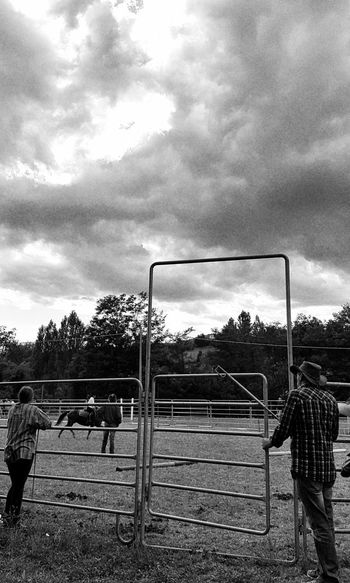 Country Country Life Countryfair Blackandwhite People Real People Carousel Horse Domestic Animals Horse Horserider Day Outdoors Nature Taking Photos Enjoying Life Cellphone Photography Horses