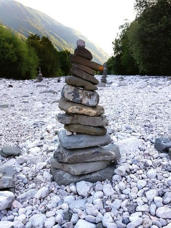 Stack Tree Day No People Outdoors Nature Landscape Sky Slovenia Bovec Stone Stones