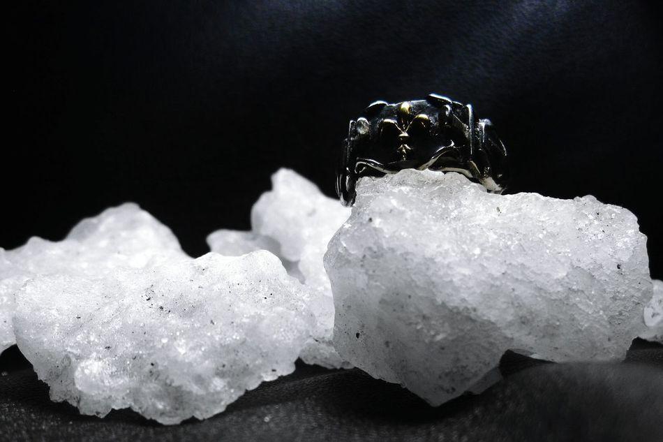 Ring Handmade Sword Shield Silver  Jewelry Jewel Jewellery Black