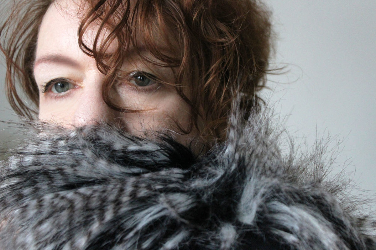 Adult Beautiful People Beautiful Woman Close-up Featherboa Feathers Fur Fur Coat Green Eyes Grey Headshot Looking At Camera Mature Adult One Person One Woman Only Only Women Party Portrait Redhead Warm Clothing Winter Women